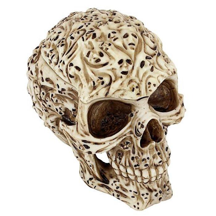 煩悩の頭蓋骨(スカル)小物入れ ゴシック調ボックス置物 / Design Toscano Skull's Soul Spirit Sculptural Box(輸入品