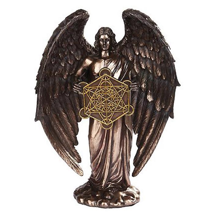 大天使メタトロン ブロンズ風 彫刻 彫像 高さ約25cm/ Archangel Metatron Bronze Angel Statue(輸入品