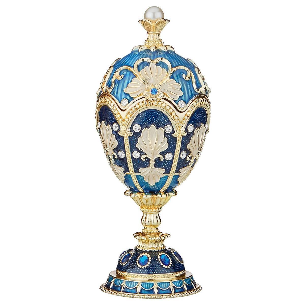 デザイン・トスカノ製 ニコライエヴィチ・ロマノフスタイル ファベルジュ・エッグ エナメルエッグ 彫像 彫刻(輸入品