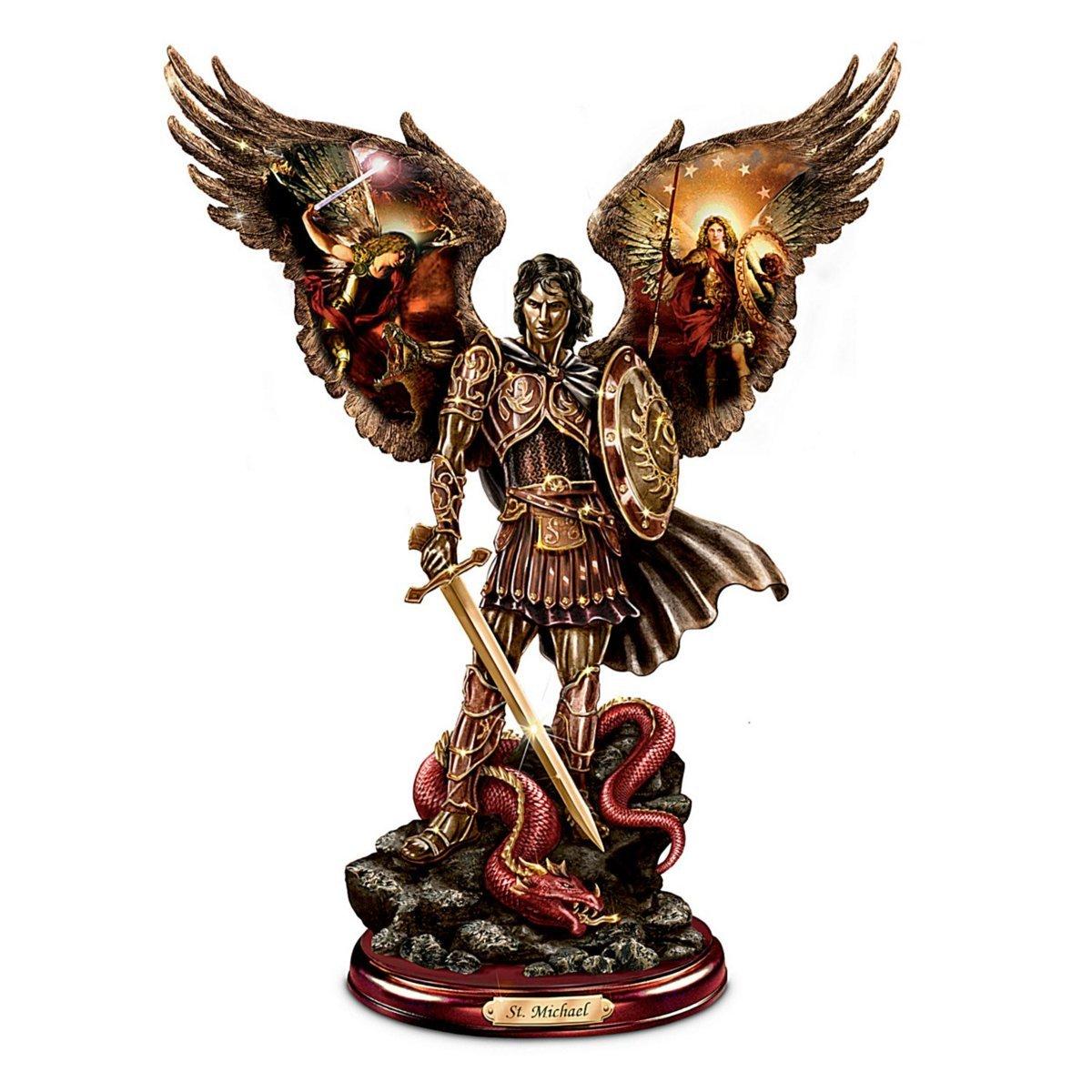 ブラッドフォード・エクスチェンジ製 勝利の戦士 聖天使ミカエル:ハワードデビッドジョンソン作 彫像 彫刻(輸入品