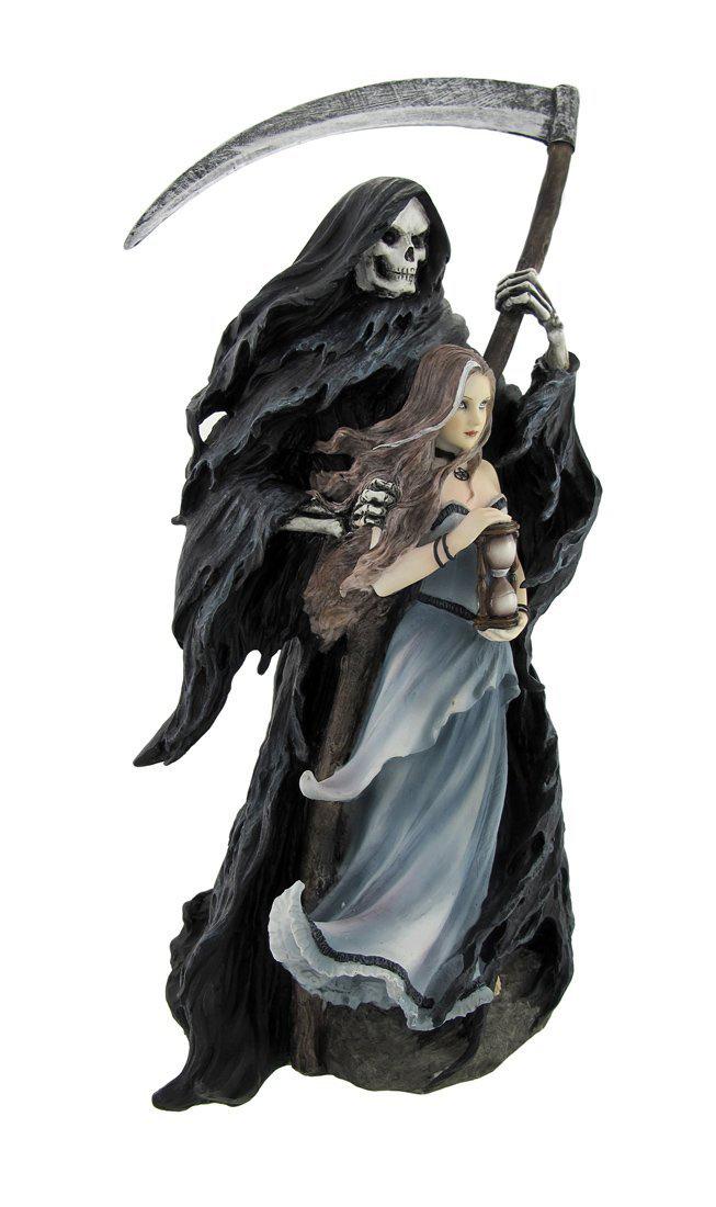 アン・ストークス作 「死神を召喚する彫像」 死神と少女 彫像 彫刻/ Anne Stokes `Summon the Reaper` Statue 11 In.(輸入品