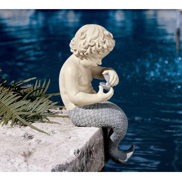 海の小さな宝物 子どもの人魚像 彫像 彫刻/ Design Toscano The Ocean's Little Treasures Mermaid Statue(輸入品