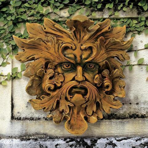デザイン・トスカノ製 オーク キング(樫の木の王) グリーンマンの壁装飾 彫像 彫刻(輸入品