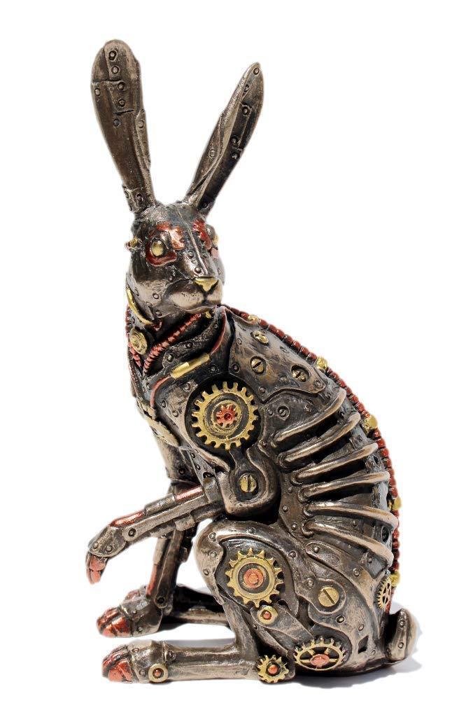 ヴェネローゼ製 スチームパンク ジャックラビット(ウサギ) ブロンズ像 彫刻 彫像/ Veronese Steampunk Jack Rabbit Cold Cast Bronze Statue(輸入品)
