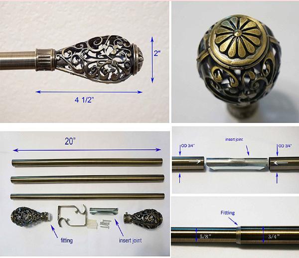 ディスプレイ・ディール カーテンやタペストリーのためにロッドセット サイズ50~147cm まで調整可/ TheDisplayDeal Hanging Rod(輸入品