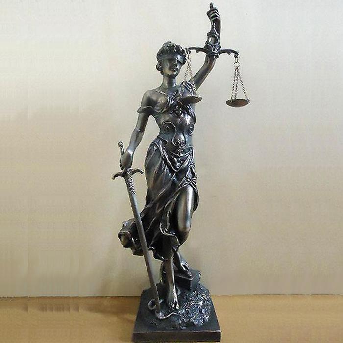 正義の女神 テミス 彫像 法律の正義を象徴する彫像 ブロンズ風仕上げ(輸入品)