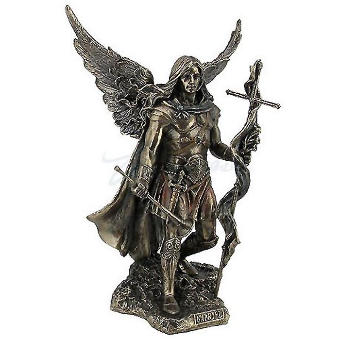 十字架とトランペットを持つ大天使聖ガブリエルの彫像/ Archangel Saint Gabriel with Cross and Trumpet Statue (輸入品