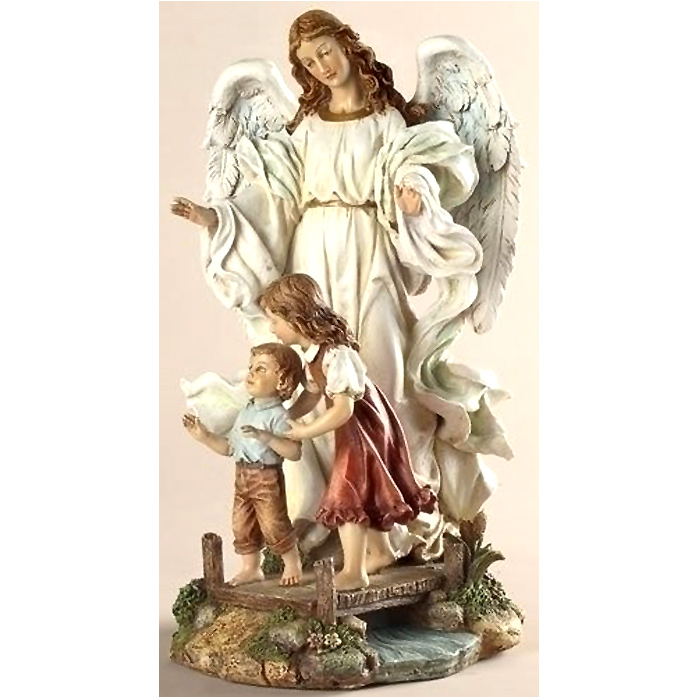最初の聖体拝領で祈りの女の子 を守る 天使、高さ 約18cm 彫像 彫刻/ Classic Guardian Angel Figurine(輸入品