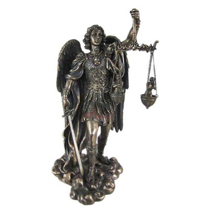 魂を計る天秤を持った、守護天使 ミカエル 彫像 彫刻/ St. Michael Weighing Souls Statue Figure Saint Angel(輸入品