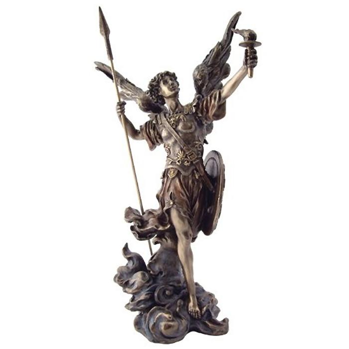 スピアとトーチを持った聖天使ウリエル彫像/ Archangel St Uriel Statue - Archangel of Salvation (輸入品