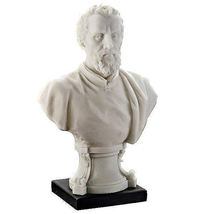 イタリア ルネッサンス巨匠 ミケランジェロ・ブオナローティ胸像 彫刻 彫像/ Italian Renaissance Master Bust Michelangelo Statue(輸入品