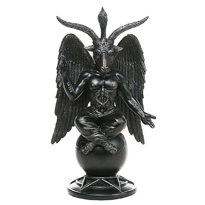 バフォメット 彫像 オカルト悪魔崇拝 黙示録 サバトの牡山羊・シースターシン・サタン/ Baphomet Horned Sabbatic Goat Statue(輸入品