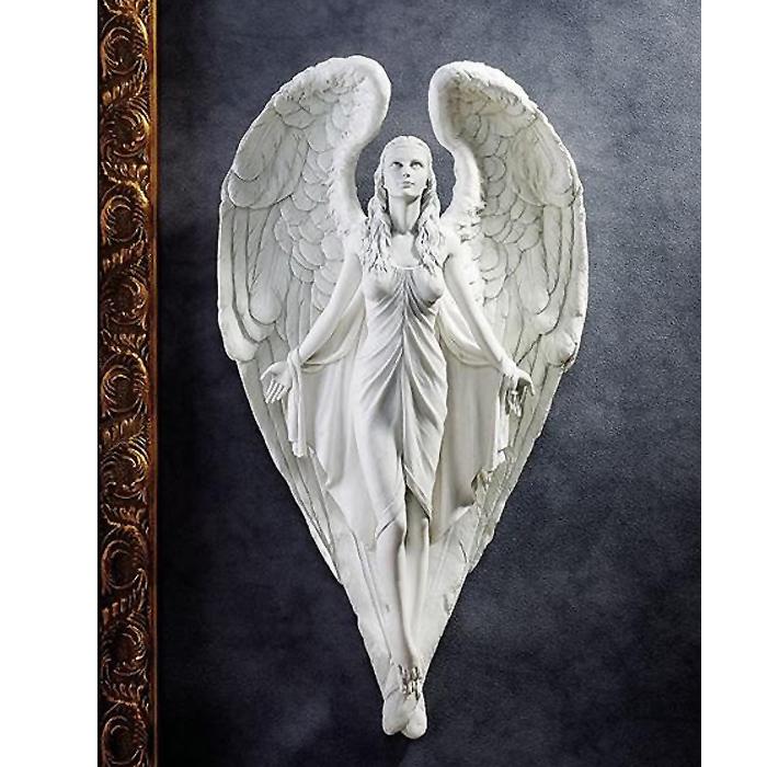 純潔な女性の天使 壁彫像 彫刻 インテリア装飾 (輸入品)