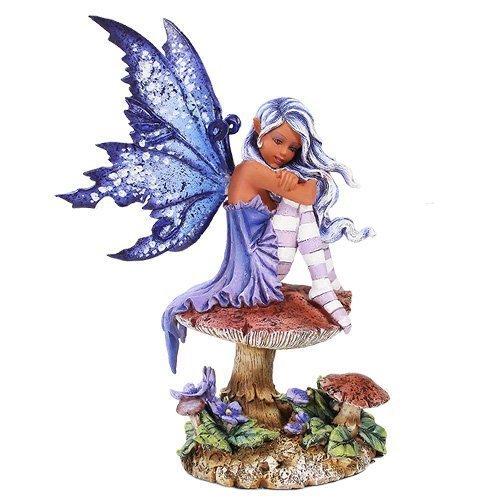 特別セール!パシフィックギフトウェア製 エイミー・ブラウン作 バイオレット・フェアリー 紫色の妖精像 ポリレジン彫像 彫刻フィギュア(輸入品)