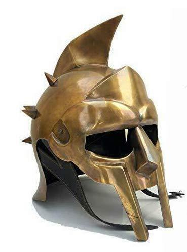 グラディエーターのアーマーヘルメット(兜 レプリカ) マキシマス・アエリウス・メリディウスの武器装飾 中世ヘルメット彫像 彫刻(輸入品)