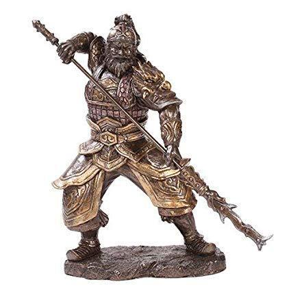 三国志演義 英雄 張飛(チョウヒ) ブロンズ風 彫像 彫刻/ Zhang Fei Chinese General Home Decor Statue Made of Polyresin(輸入品)