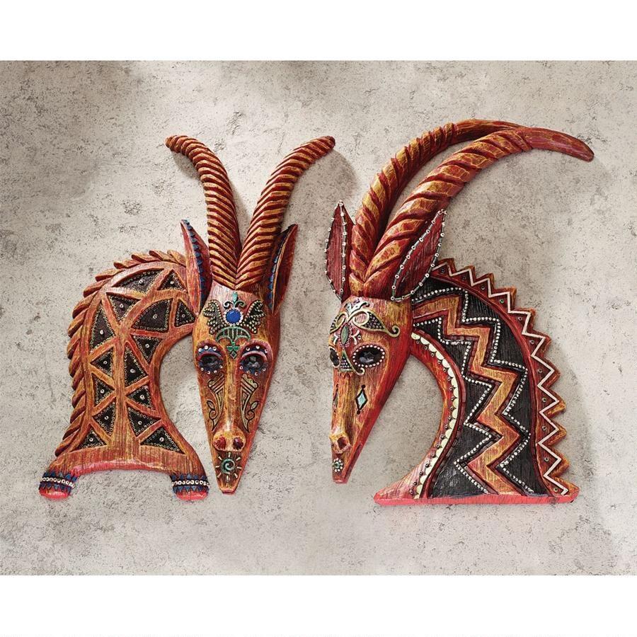 デザイン・トスカノ製 セレンゲティの東 壁彫刻 彫像/ Design Toscano East of the Serengeti Wall Sculptures(輸入品)