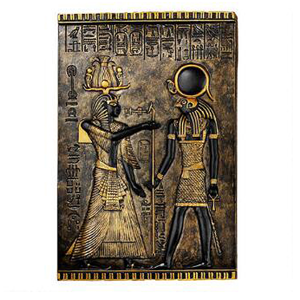 古代エジプト ホルス神 寺院の碑 壁彫刻 彫像/ Egyptian Temple Stele Plaque: Horus(輸入品)