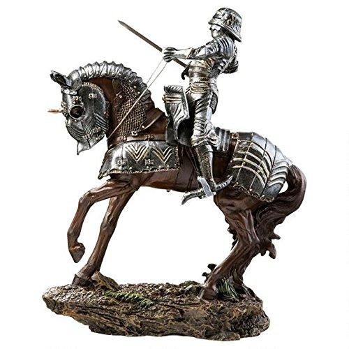 中世騎士騎馬像 ブレナム宮殿のシルバー色の騎士騎馬 彫像 彫刻/ Knights of Blenheim (輸入品)