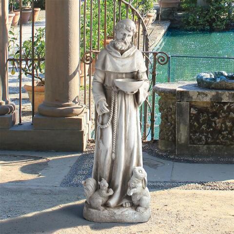 自然を慈しむ、アッシジの聖フランチェスコ ガーデン彫刻 彫像 デザイン・トスカノ製 / St. Francis Sculpture: Medium(輸入品)