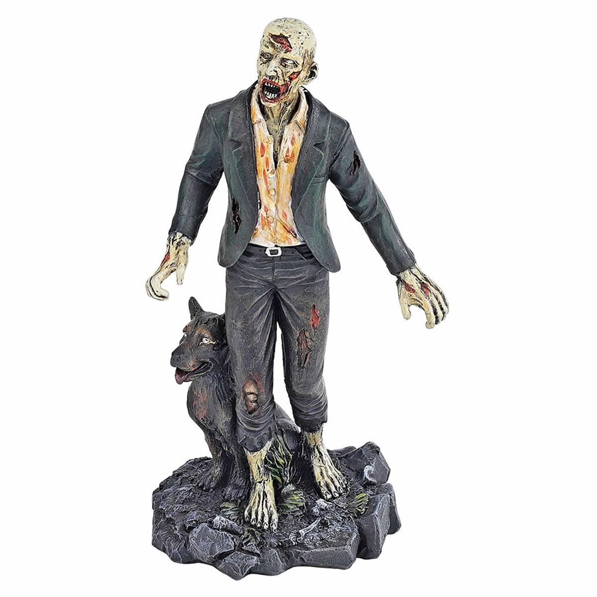 ゾンビとゾンビウルフ アンデッド・ウォーキング ゾンビモンスター オカルト・ホラーフィギュア 彫像(輸入品)