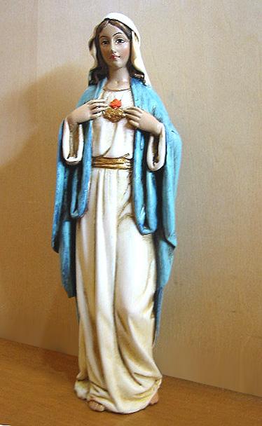 高さ約15cm聖母マリア像 高さ約15cm聖母マリア像/ 汚れなき御心/ キリスト カトリック教会 祭壇 祝福 洗礼 福音 聖霊 十字架 記念プレゼント贈り物 (輸入品)