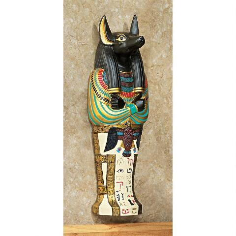 デザイン・トスカノ製 アヌビスの棺 古代エジプトオブジェ彫像 古美術置物 装飾品彫刻(輸入品)