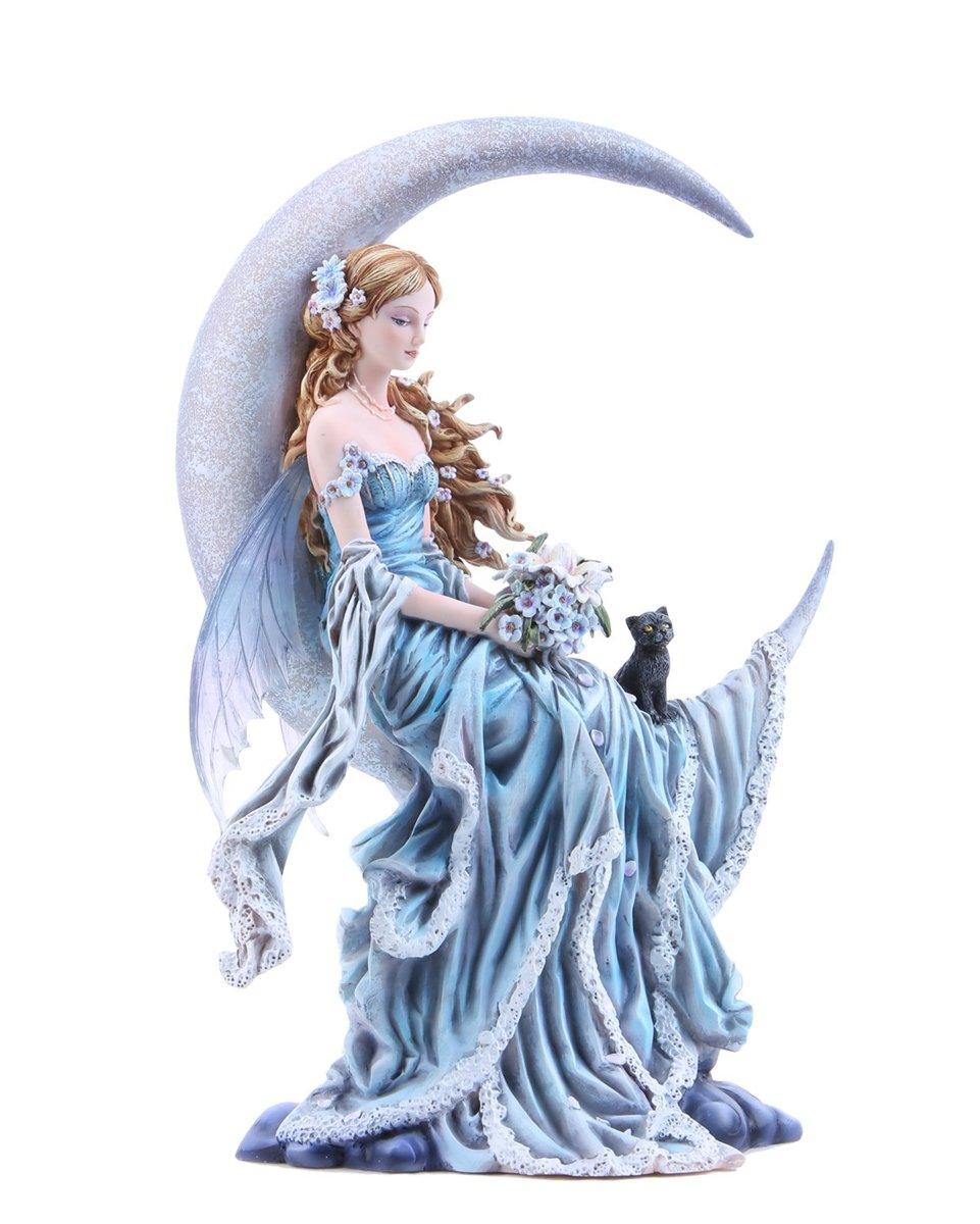4つの要素 月の妖精の置物 アースウィンド・フロストファイア ネネ・トーマスアート作 高さ 約28cm彫刻 彫像(輸入品