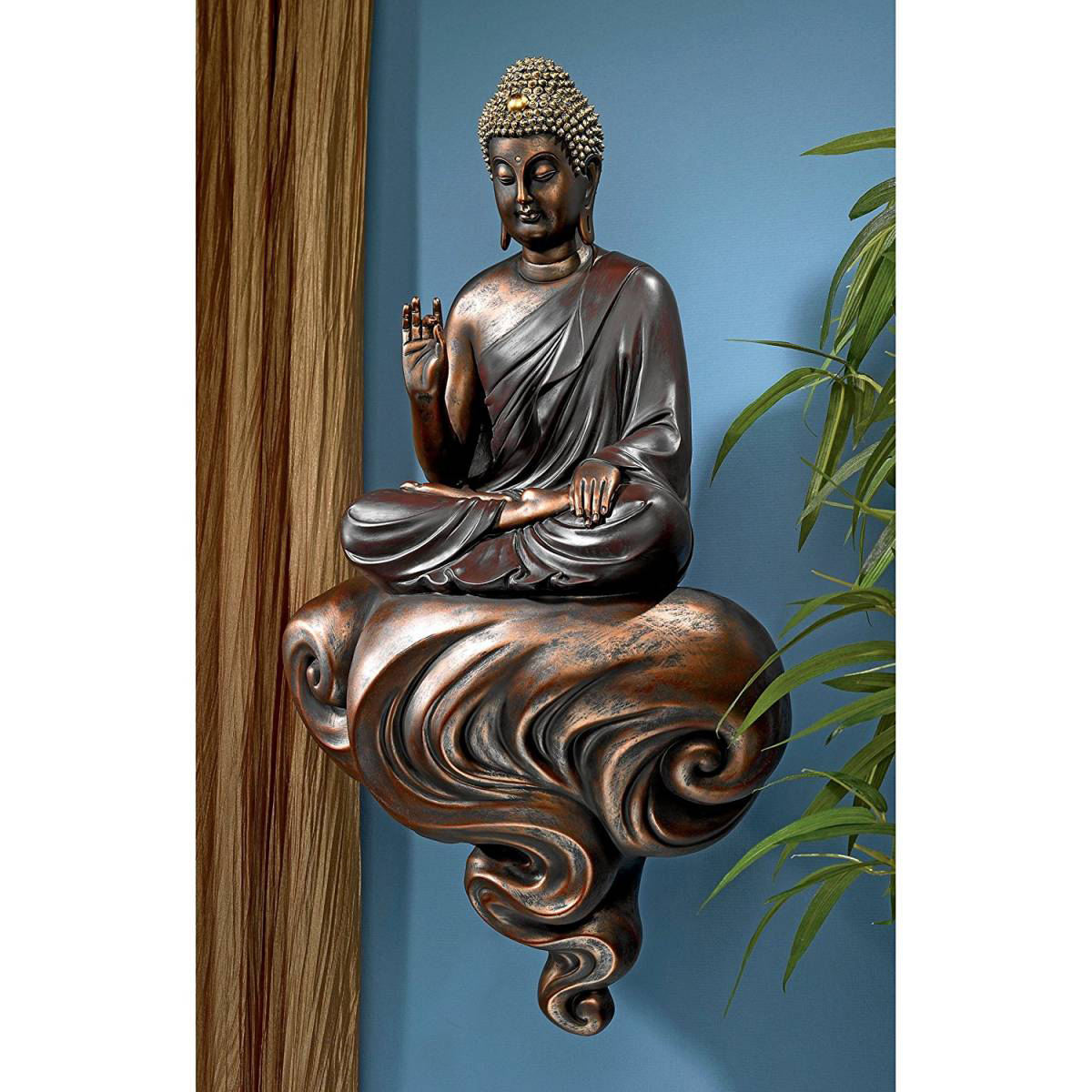 雲の上の阿弥陀如来菩薩 仏像彫刻 釈迦迦如来像 東洋彫刻 彫像インテリア壁掛け フィギュアオブジェ/ Enlightened Buddha(輸入品