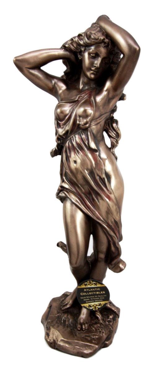 古代ギリシャの女神 ヴィーナス(アフロディーテ)神話像 置物 ブロンズ風 彫像 彫刻 高さ 約33cm(輸入品