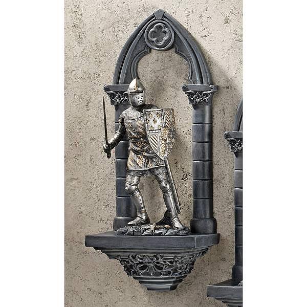 西洋甲冑鎧 中世騎士 ギャビン卿 壁彫刻 西洋置物オブジェ 美術品 彫像/Design Toscano Knights of the Realm 3-Dimensional Sir Gavin Wall Sculpture(輸入品