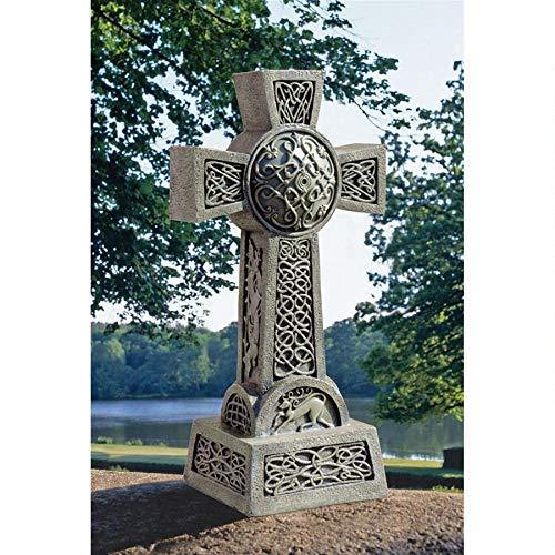 デザイン・トスカノ製 ドニゴール・ケルトの十字架の墓石 彫像 彫刻/ Donegal Celtic High Cross Statue(輸入品