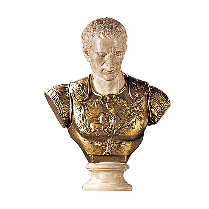 英雄の 胸像を、貴方のお部屋に!ジュリアス・シーザー 胸像 彫像/ Julius Caesar Sculpture [Kitchen](輸入品