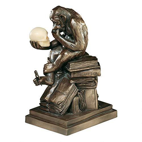 デザイン・トスカノ製 ダーウィンの猿 (種の起源) ブロンズ風 彫像 彫刻 / Design Toscano Darwin's Ape Sculpture(輸入品