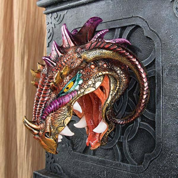 地獄のドラゴンの王子 「アスタロス」 ドラゴン・ヘッド 壁彫刻 彫像(輸入品)