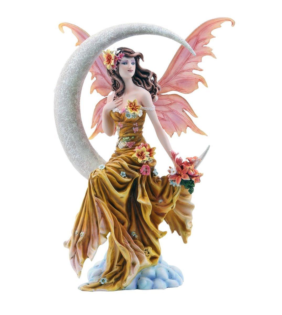 4つの要素 月の妖精の置物 アースウィンド・フロストファイア ネネ・トーマスアート作 高さ 約28cm(アース)彫刻 彫像(輸入品)