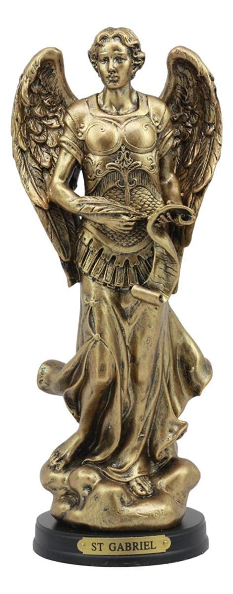 ビザンチン・カトリック教会 大天使ガブリエル 彫像 彫刻 置物/ Ebros Byzantine Catholic Church Archangel Gabriel With Sacred Scroll Statue 8