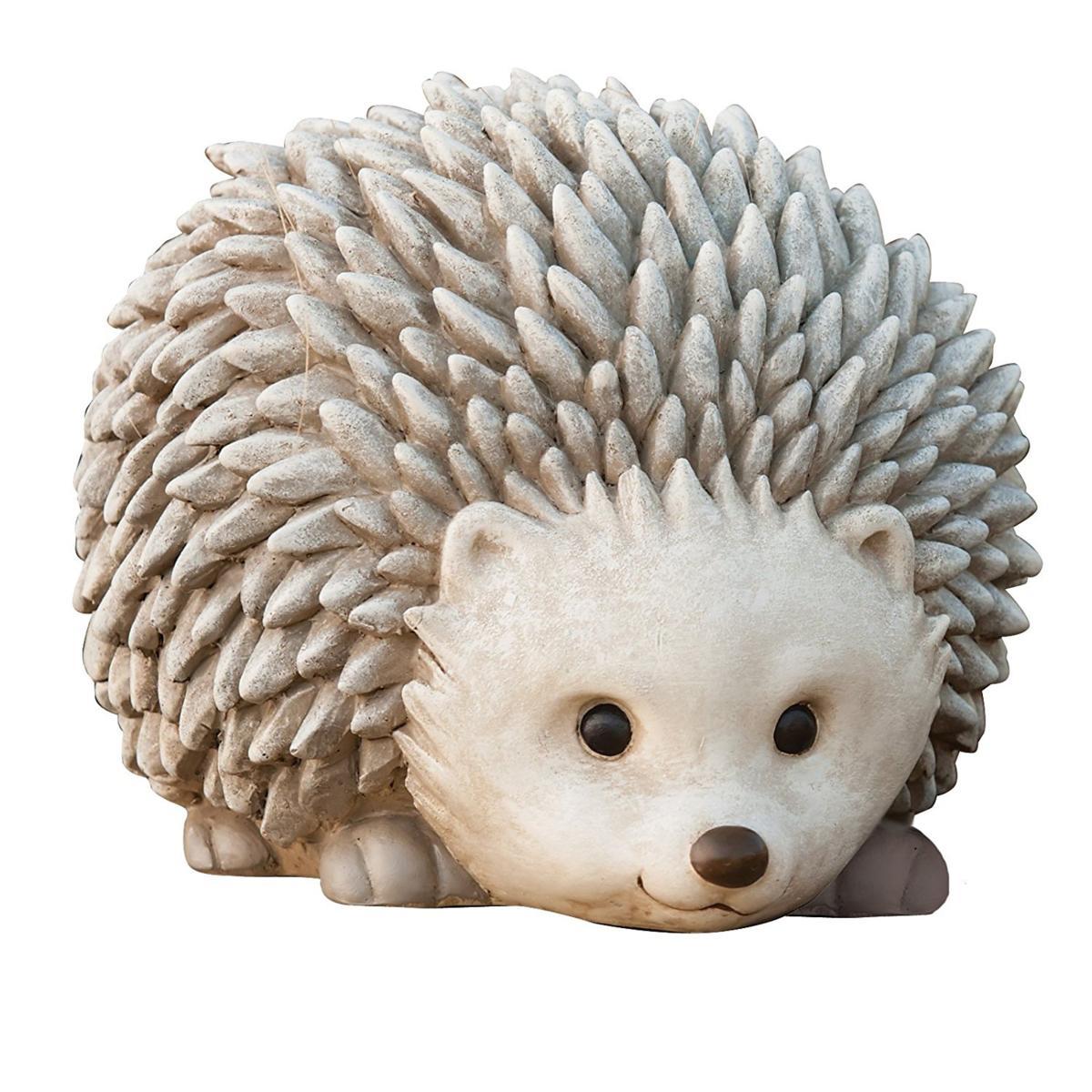 ガーデンフィギュア ヘッジホック(ハリネズミ、針鼠) 彫刻 彫像 高さ 約16cm/ Roman Pudgy Pal Garden Figure, Hedgehog,(輸入品