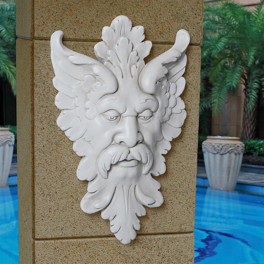 デザイン・トスカノ製 ミケランジェロ製作 フィレンツェのグリーンマン 壁彫刻、彫像(輸入品)