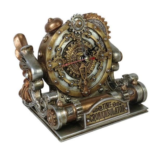 錬金術帝国 スチームパンク風 置時計 彫像 彫刻/ Alchemy Empire Steampunk Time Chronambulator Clock(輸入品