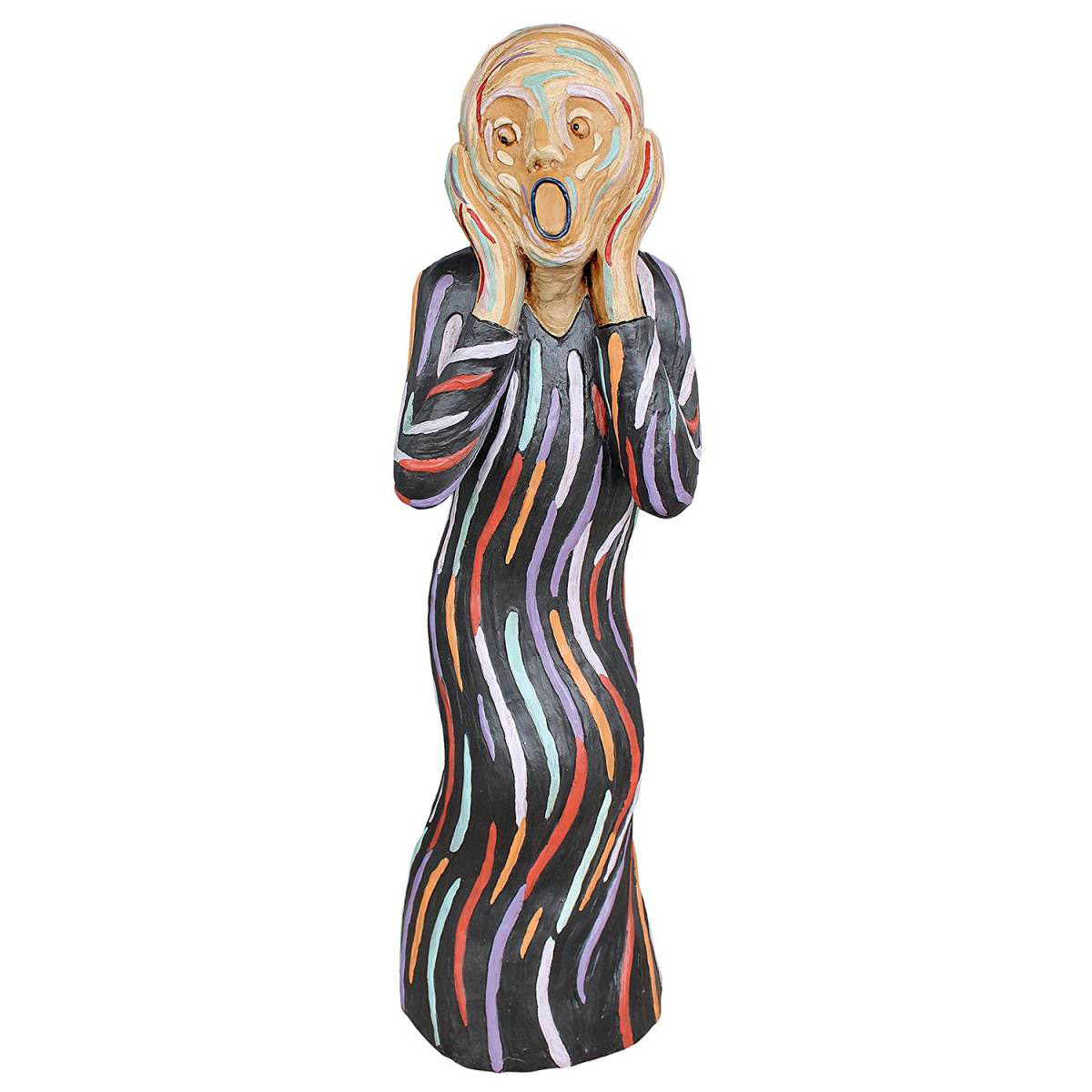 デザイン・トスカノ製 ムンク の叫び (エドヴァルド・ムンク)サイレントスクリーム像、中サイズ、マルチカラー 彫像 彫刻(輸入品