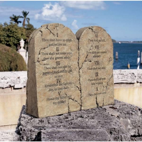 デザイン・トスカノ製 モーゼ(モーセ)の十戒 石板 ストーン風 彫像 彫刻/ Ten Commandments Statue(輸入品