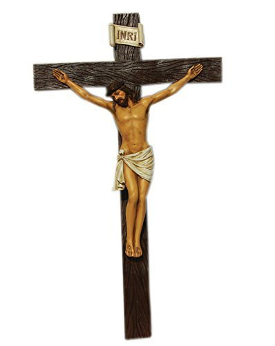 イエス・キリストの十字架 高さ 約77cm 十字架 宗教用彫刻 彫像(輸入品)