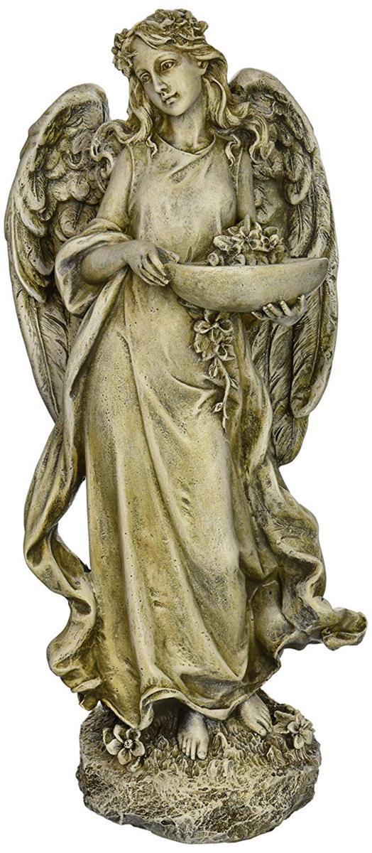 ローマン ヨセフ・スタジオ製 小鳥に餌与える、素敵な天使像 彫刻 屋外ガーデン彫像 Inspirational Statue, 彫刻 高さ 約33cm/ Roman Josephs Studio Inspirational Angel Bird Feeder Outdoor Garden Statue, 15.5-Inch(輸入品, タカツク:330eac26 --- sunward.msk.ru