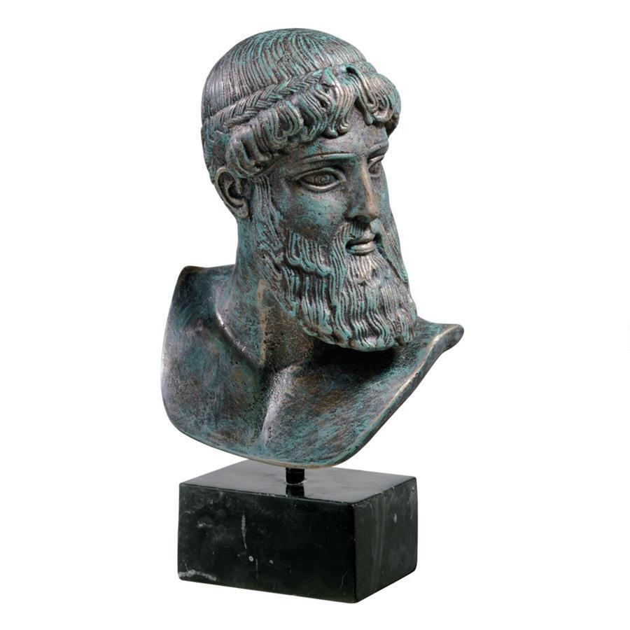 デザイン・トスカノ製 アルテミスの海神 ポセイドン胸像 彫像 置物/ Design Toscano Poseidon Of Artemision Bust(輸入品