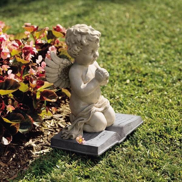 デザイン・トスカノ製 天使の祈りの像、お祈りするエンジェル ストーン風 彫像 彫刻/ Design Toscano A Cherub's Prayer Statu(輸入品