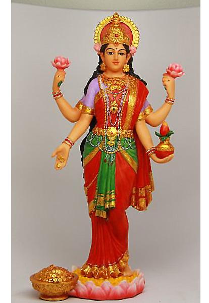吉祥天 ヒンズー彫像 富・繁栄の美しい女神 ラクシュミー 彫像/ BEAUTIFUL LAKSHMI STATUE DEITY OF BEAUTY HINDU GODDESS (輸入品
