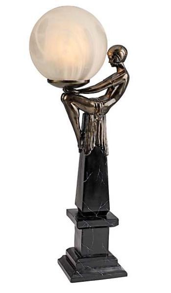 アールデコ調イルミネーション スター星の女神 彫刻 彫像/ Design Toscano Goddess of the Stars Art Deco Illuminated Sculpture(輸入品