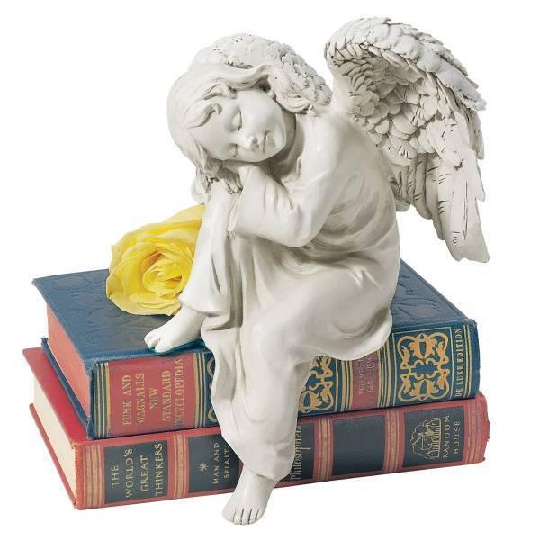 デザイン・トスカノ製 平和な夢見る 天使像 シングル彫刻 彫像/ Design Toscano Peaceful Dreams Angel Statue Quantity: Single(輸入品
