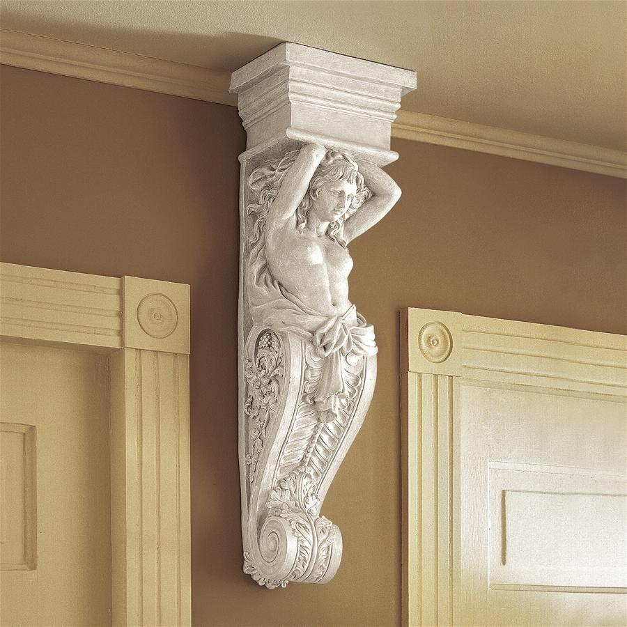 デザイン・トスカノ製、古代ギリシャ カリアティード(女人像柱)の壁彫刻 彫像/ Caryatid: Wall Sculpture(輸入品